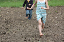 Little Kids Running Barefoot