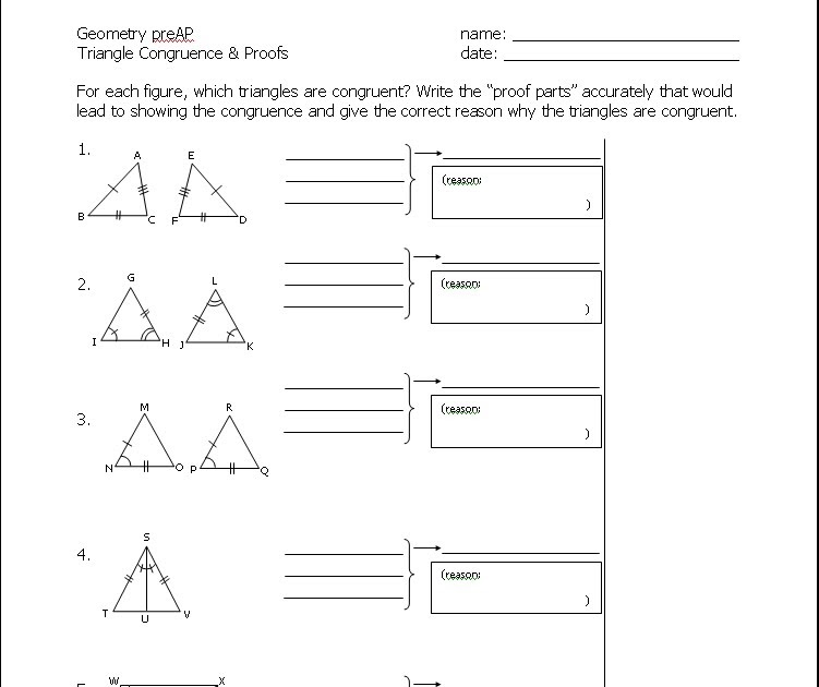 Math Teacher Mambo CPCTC – Triangle Proofs Worksheet