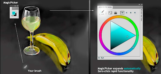 the exclusive zero-click panel functionality brings new possibilities for fast colors picking in Photoshop CS5