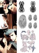 . com desenhos de tatuagens removíveis e informações sobre os artistas.