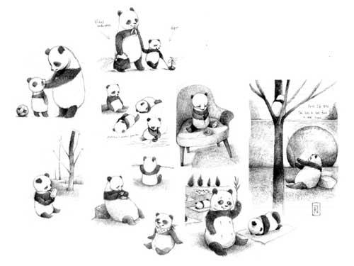 Panda gigante en dibujo por Renata Liwska : Blog de Lujo