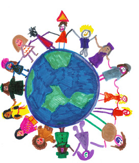 children around the world drawing