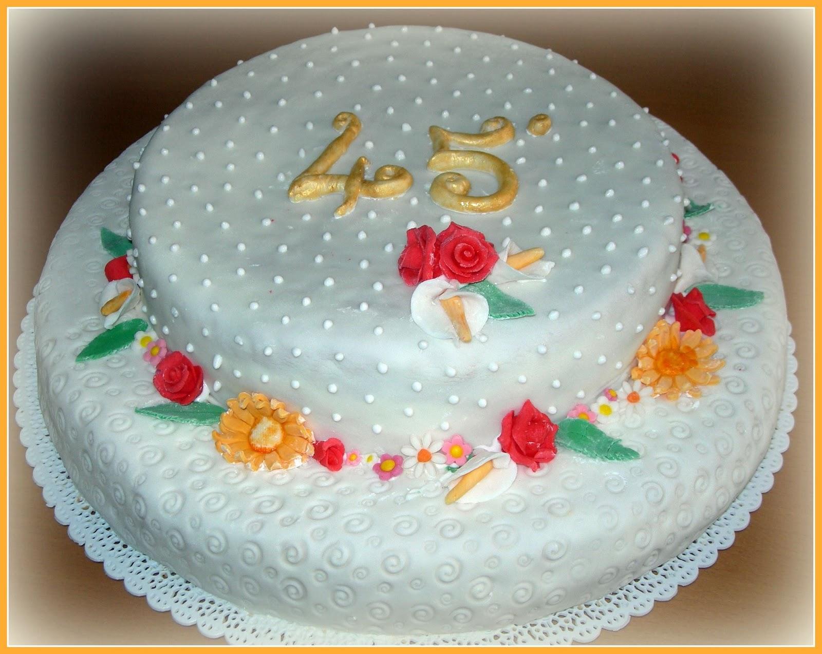 Ben noto Il pennello di cioccolato: Torta 45° matrimonio AC04