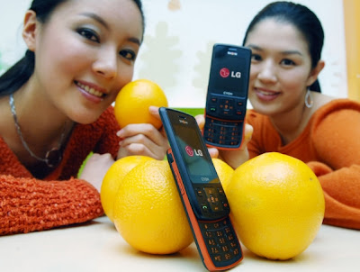 LG Orange color phone