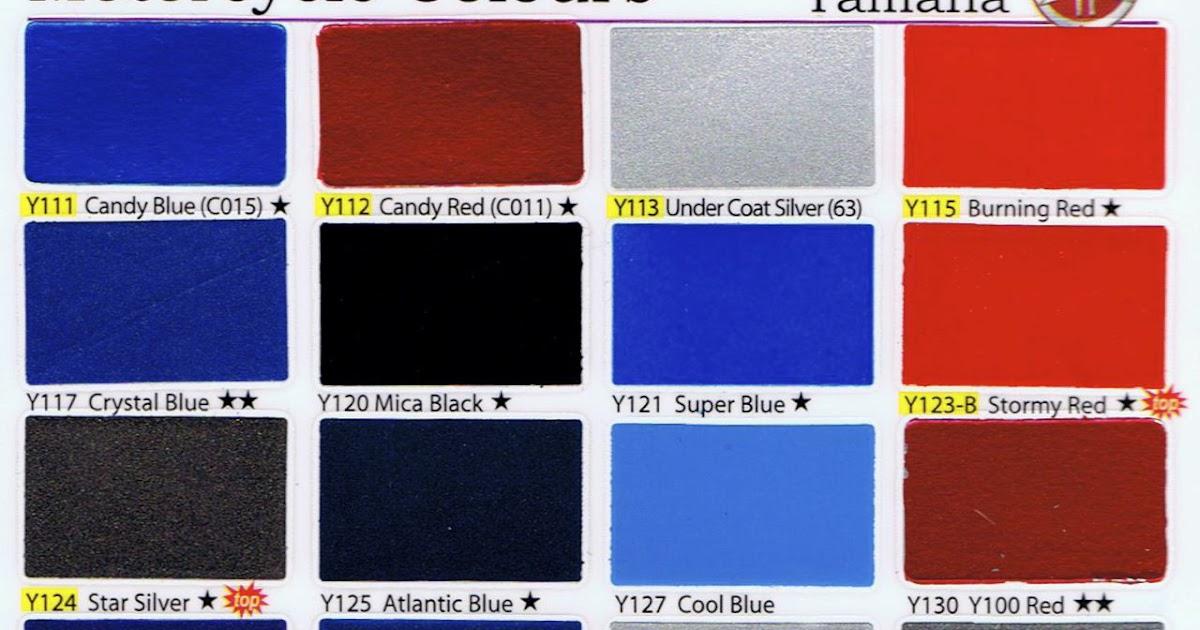 Yamaha Motorcycle Color Codes