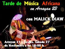 Tarde de Música Africana en directo. Cafetería Arrayan 23