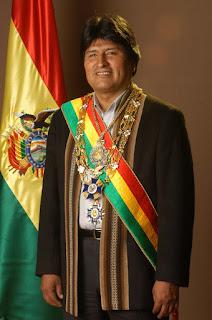 Foto del Presidente de Bolivia Evo Morales