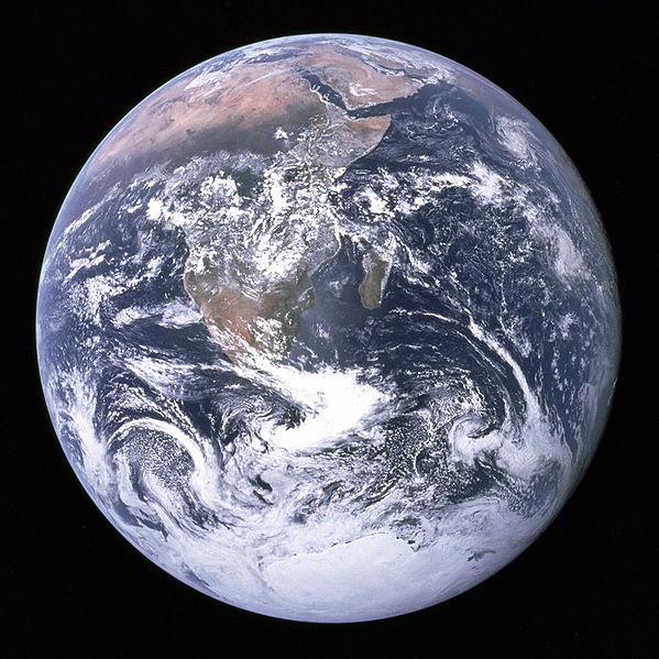 La Tierra vista desde Apollo 17