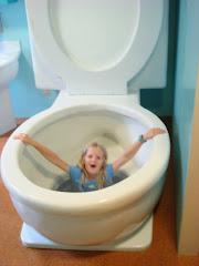 Zoe got flushed!