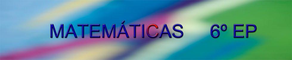 Matemáticas. 6º EP