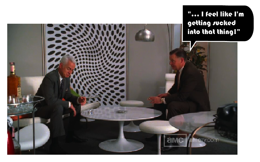 not exactly a calming piece of art but definitely a conversation piece art roger sterling office