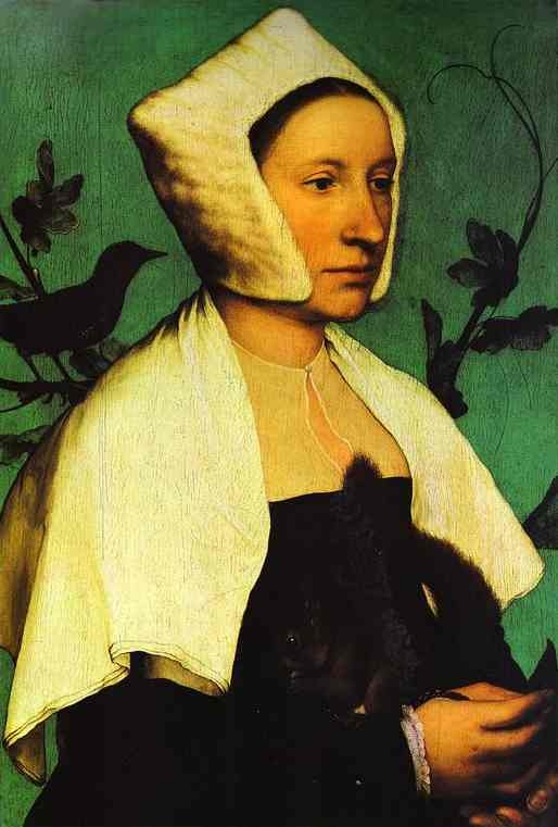 [Portrait+of+Unknown+Lady+with+a+Squirrel+and+Starling_Hans+Holbein]