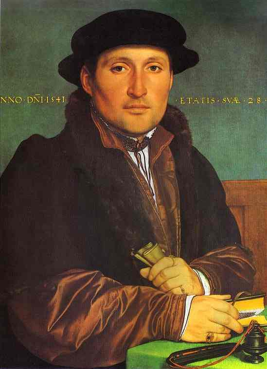 [Portrait+of+Unknown+Young+Man+at+his+Office+Desk_Hans+Holbein]