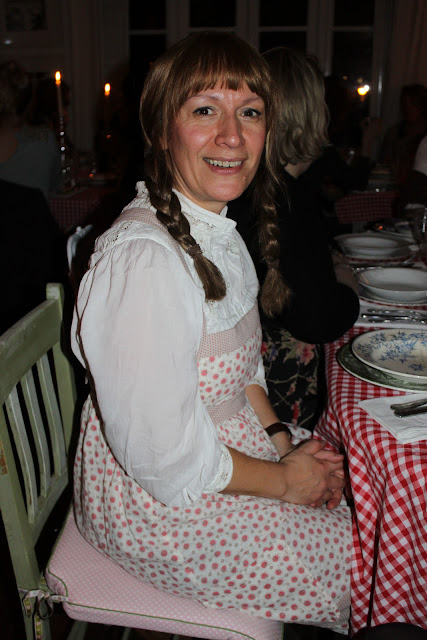 Grown women leap at the chance to wear a bit of Laura Ashley, a big apron and put their hair in plaits..., little house on the prairie thanksgiving supper club