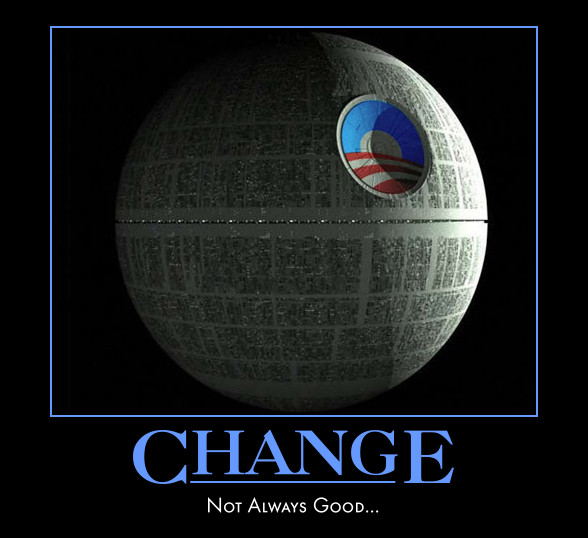 Joining the Dark Side: Darth Vaders Stranglehold on America obama+change+death+star