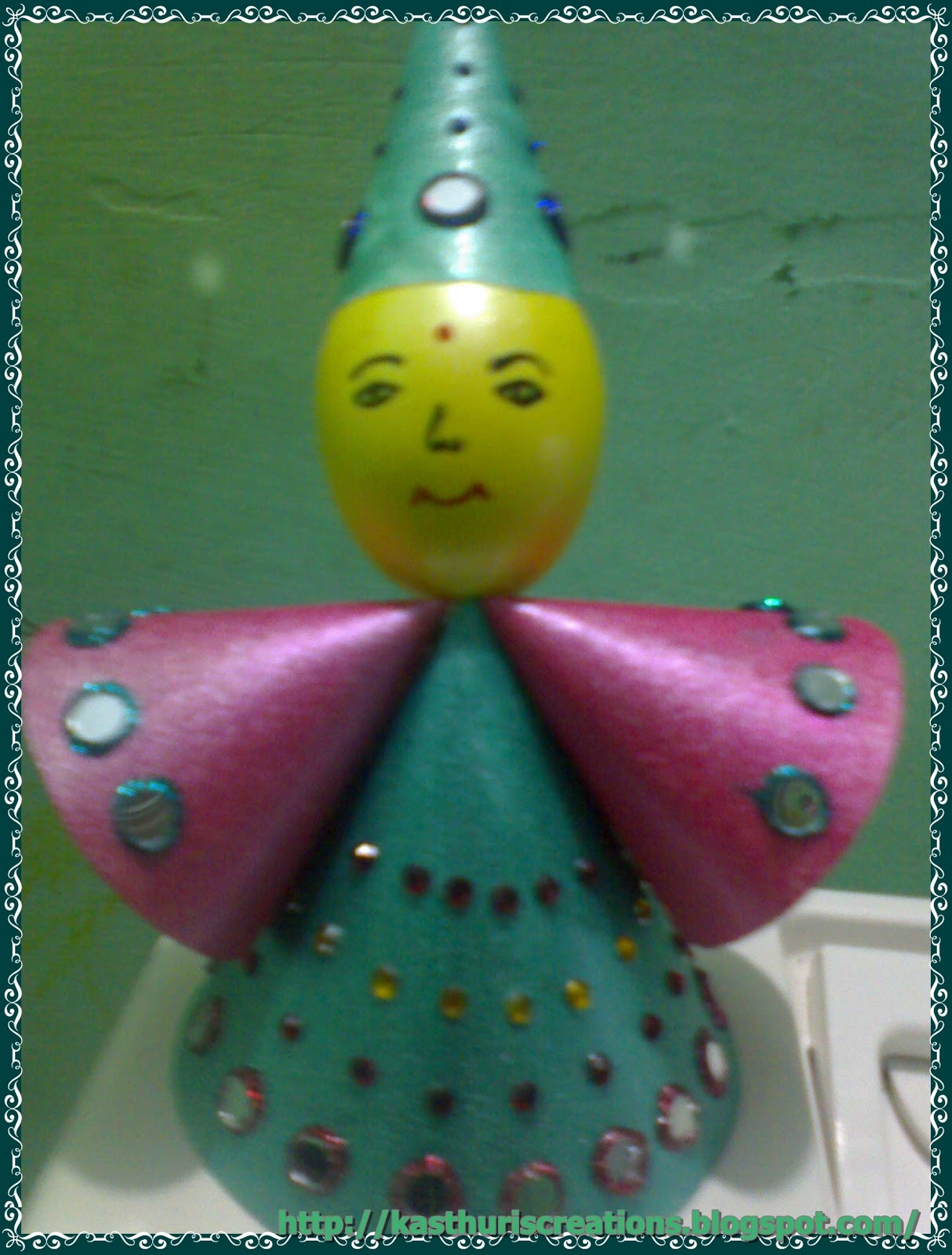 Manika art out of waste doll making for Waste material art on paper