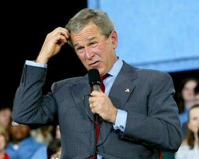 George W. Bush vet inte om han ska fly eller stanna kvar och slåss.