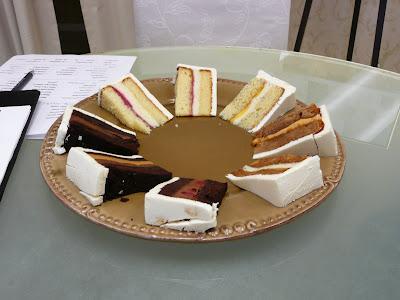 Wedding Cake Tasting - wedding cake