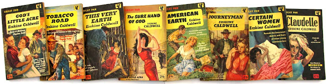 A selection of Erskine Caldwell novels and short stories published in Great Pan.