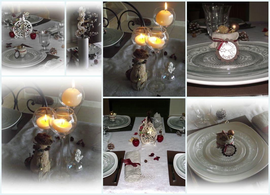 #9C6A2F Le Scrap D'Aurore 04: Déco De Table 6185 decoration de table de noel en scrap 1064x768 px @ aertt.com