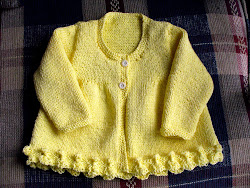 Yellow Bobble-Ribbon Jacket