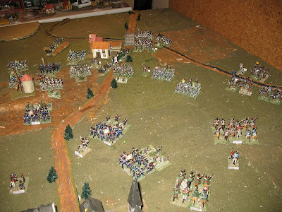 French center and right flank