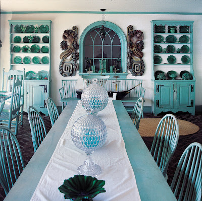 Teal Dining Room Chair Pads