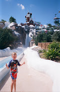 This slide was the reason he wanted to do Blizzard Beach first.