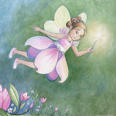 Fairy illustration for Titania Blossoms by Lani Mathis from GreenSpaceGoods