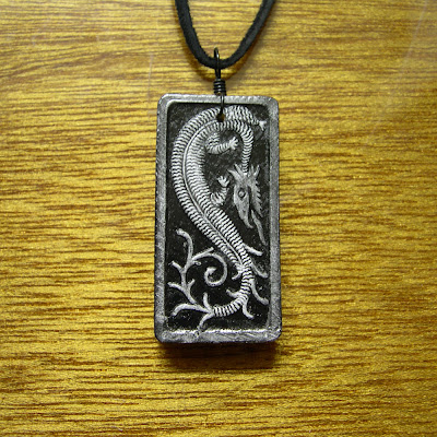 A dragon domino makes a nice pendant