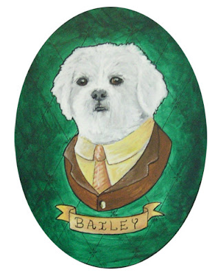 Bailey Dog painting by Lani Mathis