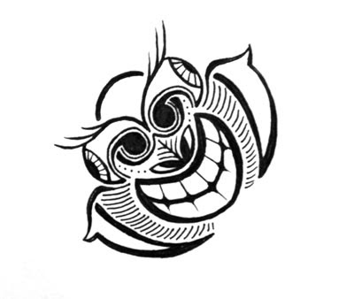 Tiki Ostrich Doodle by Lani Mathis Doodle Off V.3