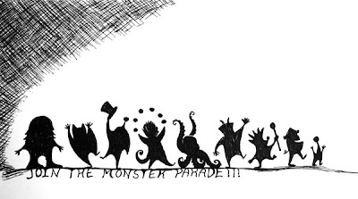 The Monster Parade IF doodle by Lani Mathis