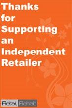 Retailrehab campaign poster orange