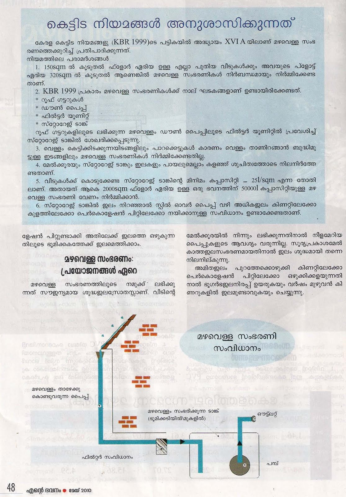 keralahousedesigner com malayalam article on rainwater harvesting please click on image to enlarge