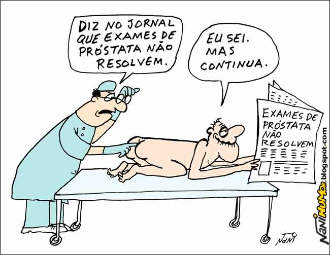 Resultado de imagem para exame de próstata charges