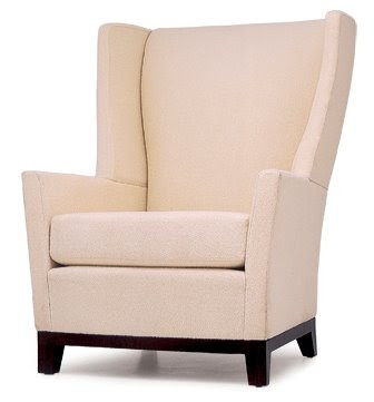 RV-5272 Wing Back Fabric Dining Chair in Tan
