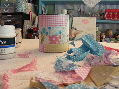 recycled tin can craft patchwork