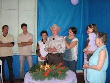 Hilário discursando no aniversário de 80 Anos de sua irmã, Cesira.