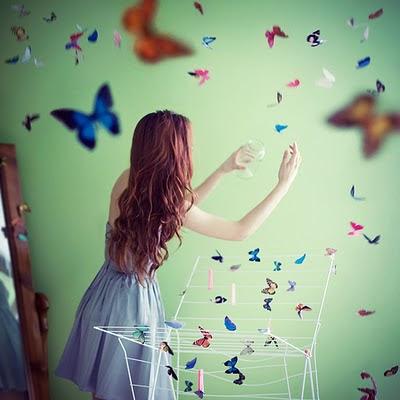 **Volte borboleta machucada**