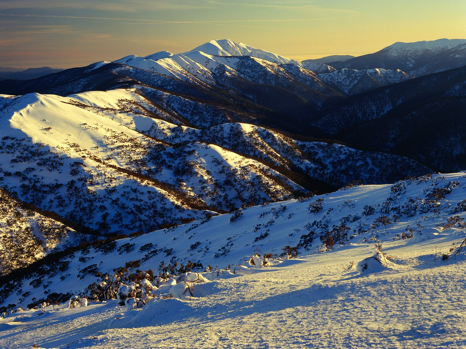sunrise on mount featherto australia wallpapers - Sunrise on Mount Feathertop Wallpaper Australia World