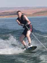 Dan showing off his wakeboarding skills
