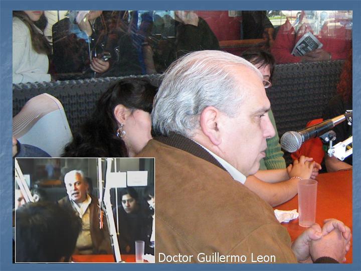 El Doctor Guillermo León (Secretario de Salud de la Municipalidad de Vicente López ) nos visito