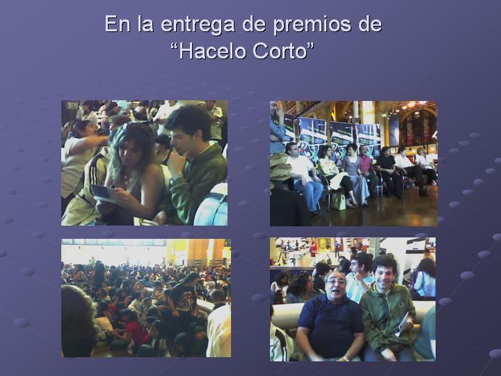 Capacidades Brillantes estuvo en la entrega de premios de Hacelo Corto