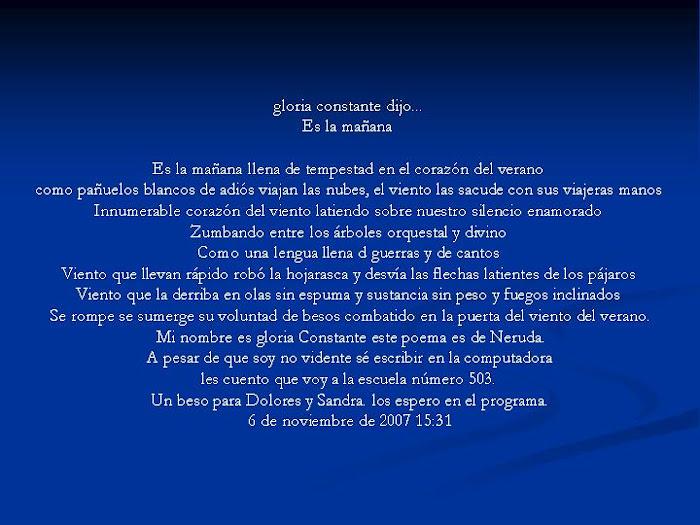 Gloria escribio en Capacidadesbrillantes.blogspot.com