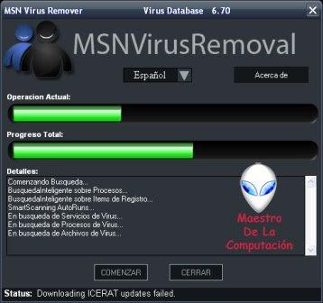 MSN Virus Remover – Elimina los Virus del Mesenger