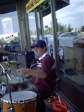 Sean on drums