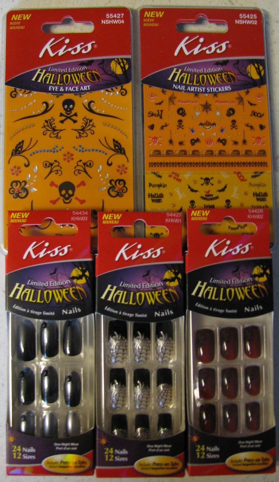 kiss halloween nails