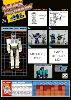 Action Master Ultra Magnus Custom Package back