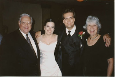 Baker-Wright wedding photo with David and Jeannette Scholer